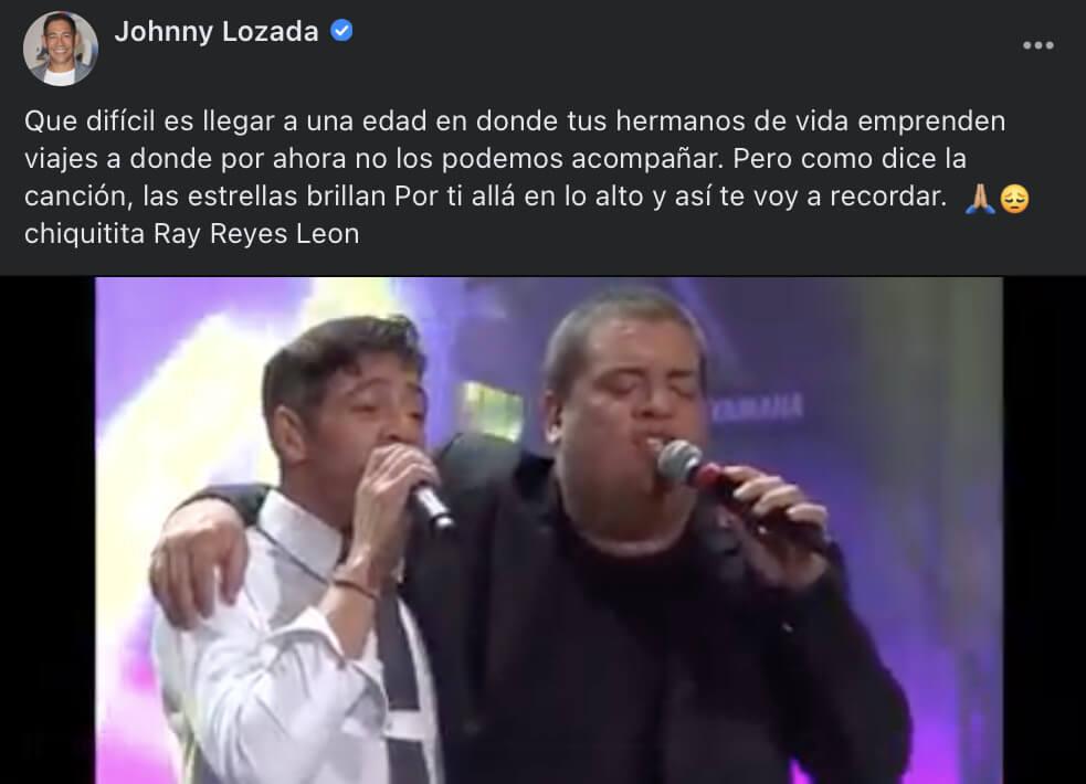 Johnny Lozada se despide de Ray Reyes